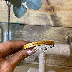 Jewelry - Leather Bracelet handmade custom quote